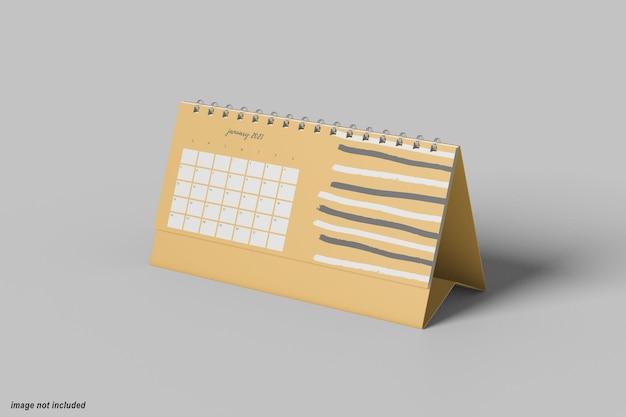 Минимальный горизонтальный настольный календарь макет