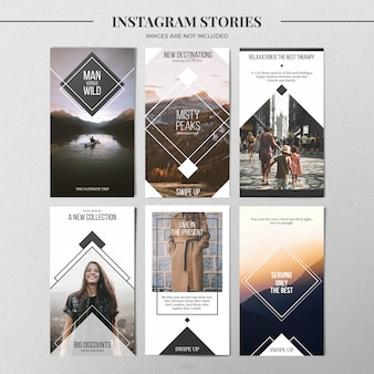 Минимальный шаблон истории instagram