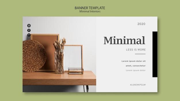 Modello di banner interni minimal