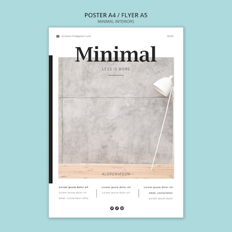 Poster di interni minimal