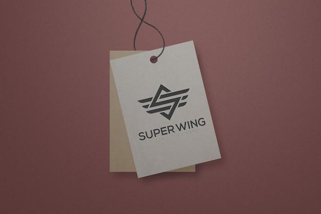 Minimal label tag logo mockup template