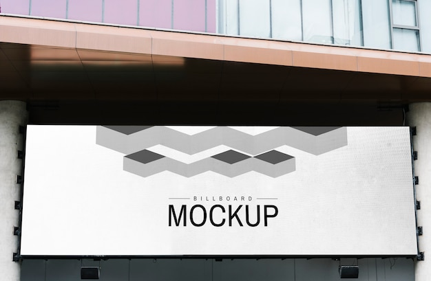 Minimal large-scale horizontal billboard mockup