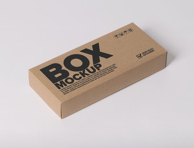 Minimal logo mockup on box