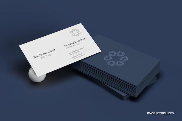 Минимальный роскошный макет визитной карточки
