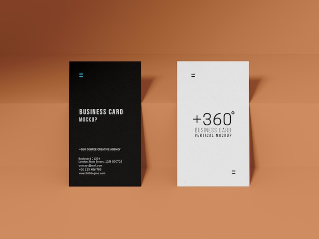 Minimal modern business card mockup