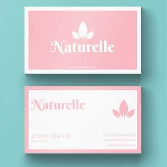 Minimal nature business card