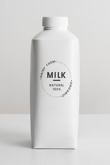 최소한의 유기농 우유팩 디자인 리소스