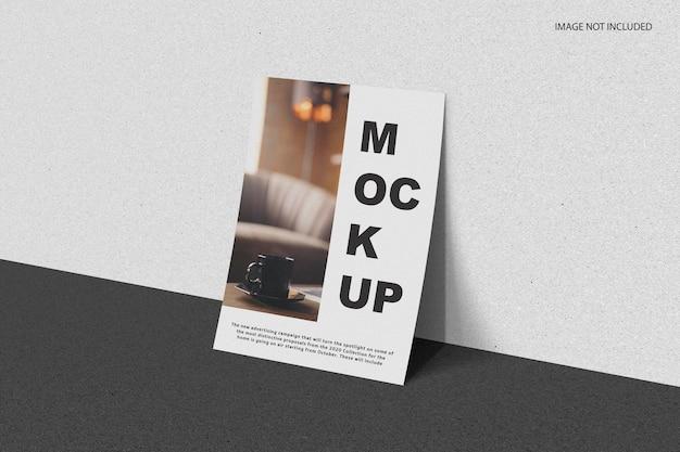 Minimal paper mockup design rendering