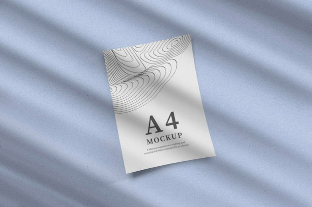 Minimal paper with shadow mockup design rendering