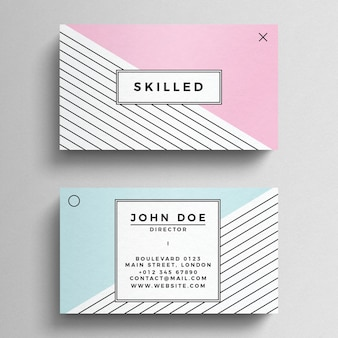 Minimal Pastel Business Card Template