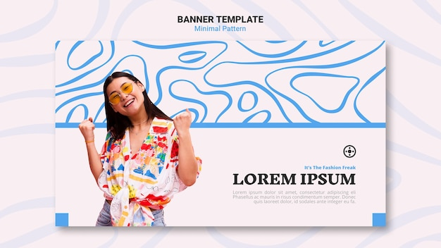 Minimal pattern banner template design
