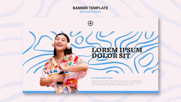 Minimal pattern banner template style