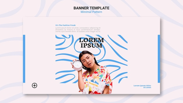 Minimal pattern banner template