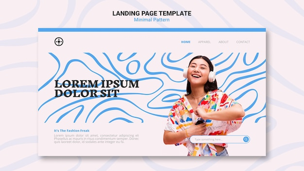 Minimal pattern web template