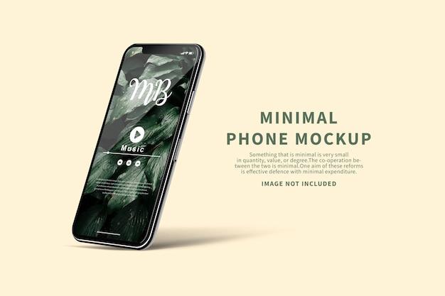 最小限の電話スクリーンのモックアップ