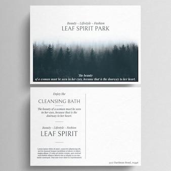 Minimal postcard template
