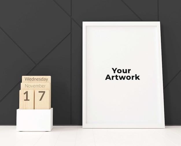 Minimal poster or photo frame mockup