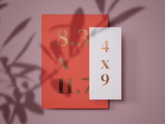 Шаблон минимального макета для печати