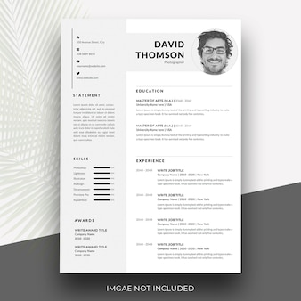 Minimal and professional resume template