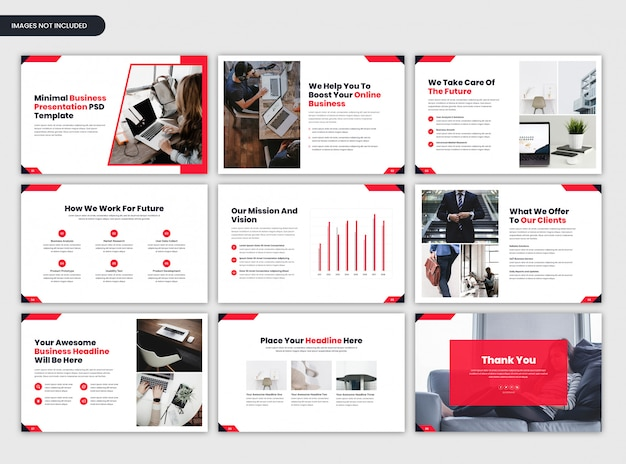 Minimal project overview and business presentation template