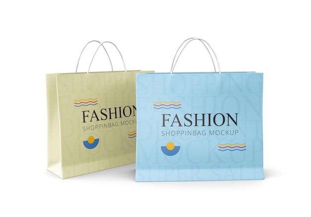 최소한의 현실적인 쇼핑백 목업