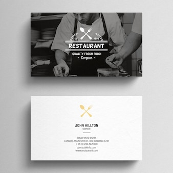 Minimal restaurant business card