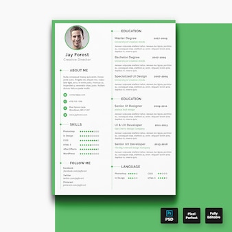 Minimal resume cv template-01