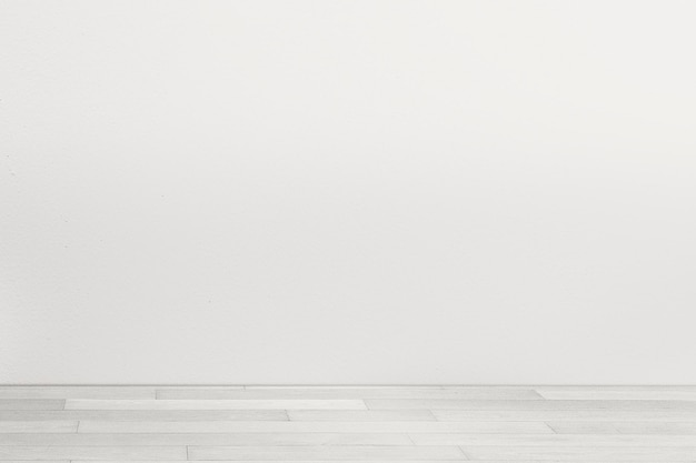 白い床の最小限の部屋の壁のモックアップpsd