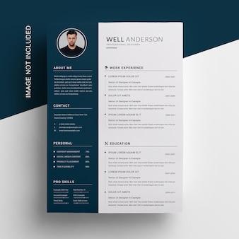 Minimal sidebar resume template
