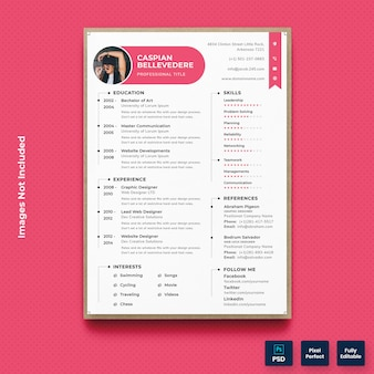 Minimal simple resume cv template
