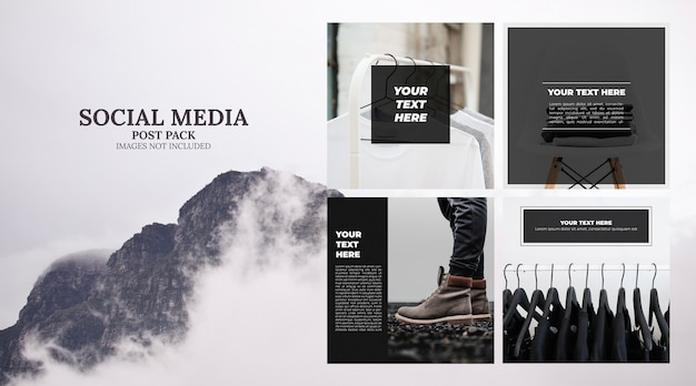 Minimal social media template post pack