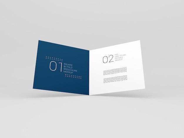 Складной макет брошюры minimal square