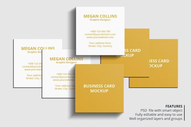 Минимальный квадратный дизайн макета визитки