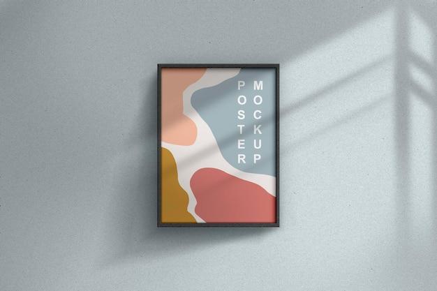 最小限の正方形のフレームの写真のモックアップデザインのレンダリング