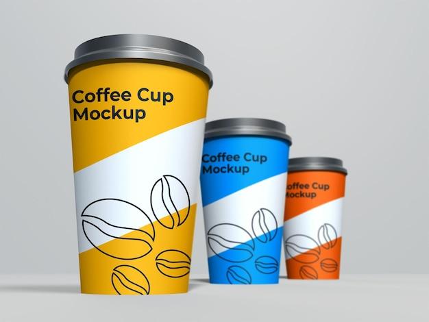 Минимальный макет подставки для трех бумажных стаканчиков