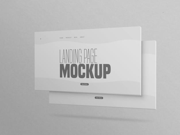 Minimal two clean landing page website mockup