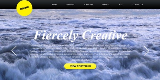 Minimal website with full screen background template