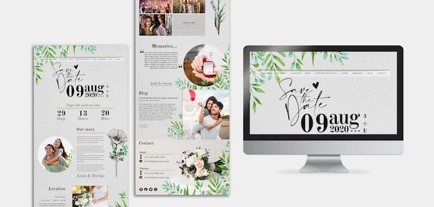 Minimal wedding blog template