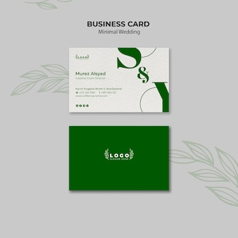 Minimal wedding business card template