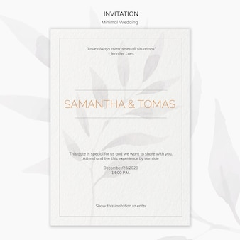 Минимальный свадебный пригласительный плакат