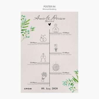 Minimal wedding template poster