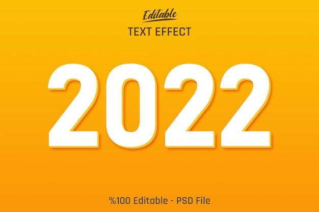 オレンジ色の背景を持つミニマリスト3d2022編集可能なテキスト効果