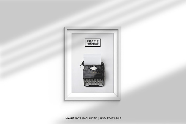 Минималистичный и креативный макет белой рамки с тенью и светом окна
