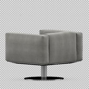 Minimalist armchair in 3d rendering