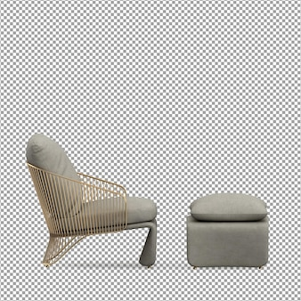 Минималистское кресло в 3d-рендеринге