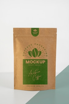 Minimalist assortment of doypack mock-up