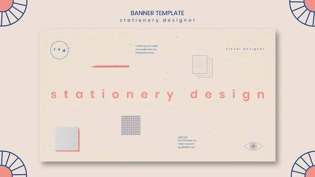 Minimalist banner template
