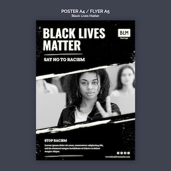 Minimalist black lives matter poster