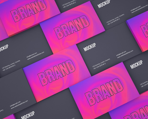 Minimalist brand identity lots business card mockup