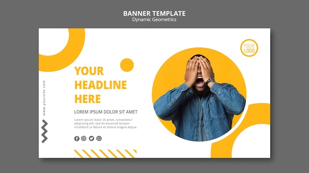 Minimalist business banner template